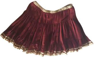 Philosophy di Alberta Ferretti Burgundy Wool Skirt for Women
