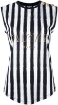 Balmain logo tank top - women - Cotton - 38