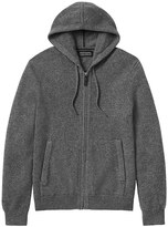 Banana Republic Todd & Duncan Cashmere Full-Zip Sweater Hoodie