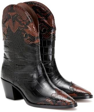 Paris Texas Snake-effect leather cowboy boots
