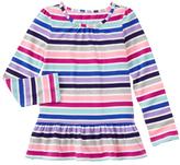 Gymboree Pink & Purple Stripe Peplum Top - Girls