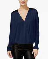 GUESS Contrast Surplice Top