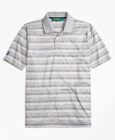 Brooks Brothers St Andrews Links Bird's-Eye Stripe Golf Polo Shirt