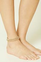 Forever 21 FOREVER 21+ Fringed Ball Chain Anklet