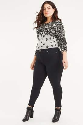 Oasis Womens Black Curve Lily Skinny Jean - Black