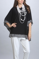 IC Collection Black Poncho Top