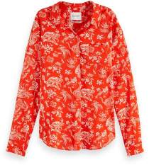 Scotch & Soda Tiger Print Oversized Shirt - xlarge - Red