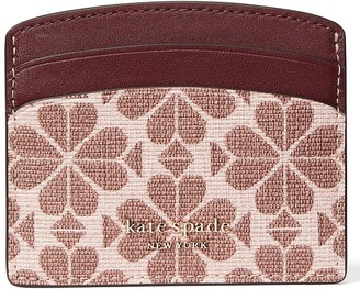 Kate Spade Spade Flower Coated Canvas Card Holder - Pink