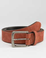 Asos Suede Belt In Rust