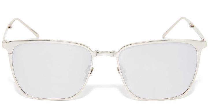 Linda Farrow Luxe Mirrored Square Sunglasses
