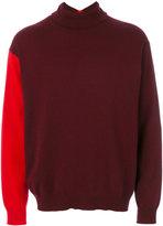 Marni contrast sleeve turtleneck sweater