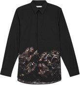 Givenchy Black Monkey-print Cotton Shirt
