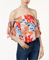 Astr Havana Tie-Detail Off-The-Shoulder Top