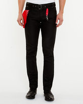 Le Château Coated Straight Leg Denim Pant