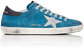 Golden Goose Deluxe Brand Men's Superstar Suede Sneakers-BLUE, SILVER, BLACK