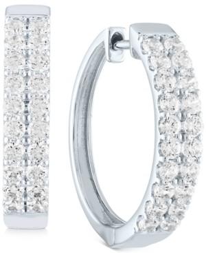 Forever Grown Diamonds Lab-Grown Diamond Hoop Earrings (1 ct. t.w.) in Sterling Silver