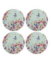 Denby Monsoon Kyoto Blue Round Placemats X4