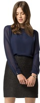 Tommy Hilfiger Sheer Combo Blouse