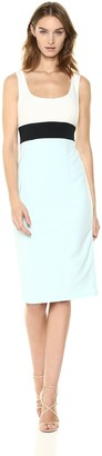 Donna Morgan Women's Crepe Colorblock Midi Dress