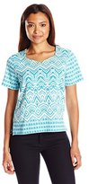 Alfred Dunner Women's Petite Monotone Knit Top