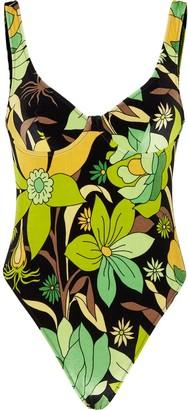Fendi Floral-Print Swimsuit