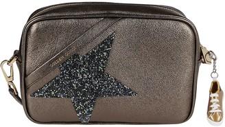 Golden Goose Bronze-tone Leather Star Crossbody Bag