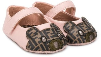 Fendi FF logo teddy ballerina shoes