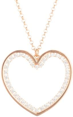 Latelita Heart Large Pendant Drop Necklace Rosegold