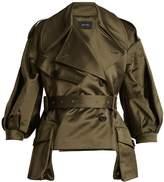 Simone Rocha Double-breasted asymmetric-hem cotton-blend jacket