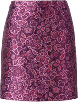 Lanvin embroidered floral effect skirt