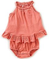 Ralph Lauren Baby Girls 3-24 Months Lightweight Cotton Eyelet Ruffled Romper