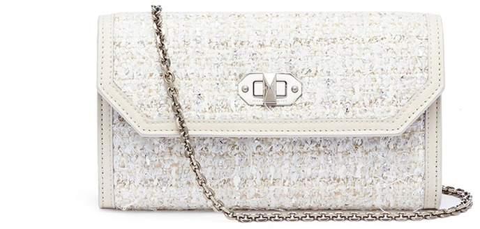 Alexander McQueen Tweed chain wallet