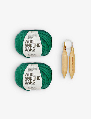 Wool And The Gang Triple Threat wool scarf-knitting kit