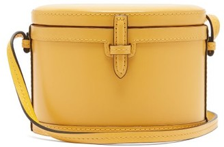 Hunting Season The Round Trunk Leather Crossbody Bag - Womens - Yellow