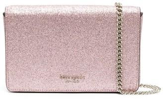Kate Spade Spencer glitter chain wallet