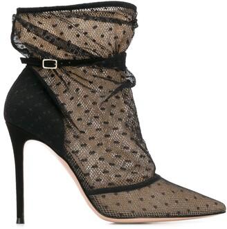 Gianvito Rossi net polka dot boots