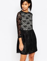 Iska Long Sleeved Lace Dress