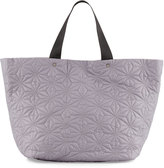 Neiman Marcus Star-Quilted Tote Bag, Gray