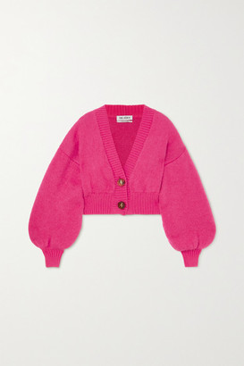 ATTICO Cropped Mohair-blend Cardigan - Pink