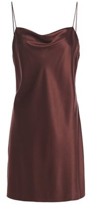 CAMI NYC The Axel Draped Stretch-silk Satin Mini Slip Dress