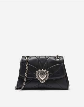 Dolce & Gabbana Large Devotion Shoulder Bag In Quilted Nappa Leather