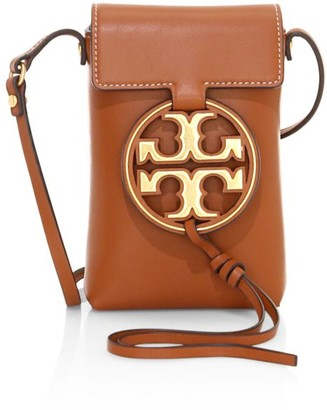 Tory Burch Miller Metal Leather Crossbody Phone Case