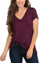 Magic Fit Burgundy V-Neck Tee