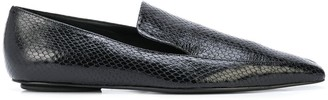 Rosetta Getty Embossed Square-Toe Loafers