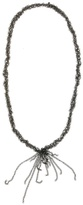 Flutter - Rennes Long Layered Chain Necklace, Oxidized Silver
