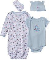 Baby Starters Baby Boy 4-pc. Bodysuit & Gown Set