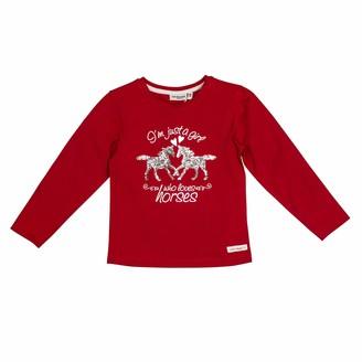 Salt&Pepper Salt and Pepper Girls' Horses Foilprint und Pailletten Longsleeve T-Shirt