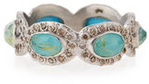 Armenta New World Oval Turquoise & Diamond Stacking Ring