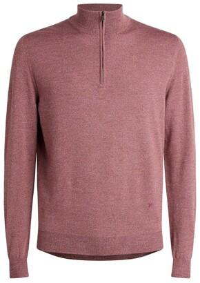 Isaia Wool Half-Zip Sweater