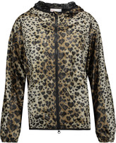RED Valentino Leopard-print shell hooded jacket